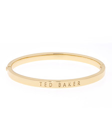 Ted Baker Womens Gold Clemina Hinge Metallic Bangle