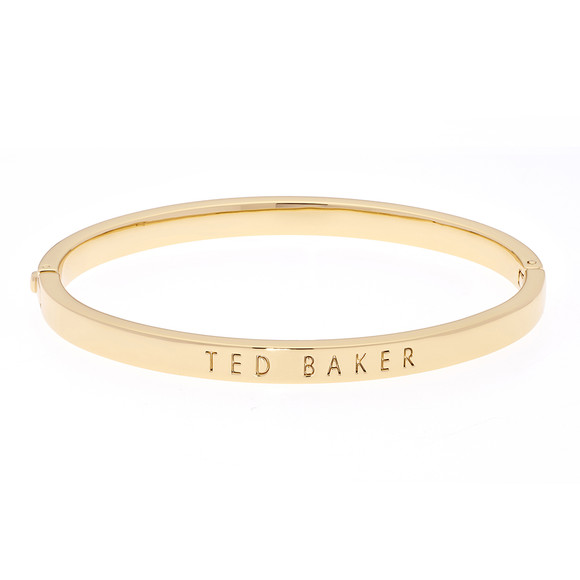 Ted Baker Womens Gold Clemina Hinge Metallic Bangle main image