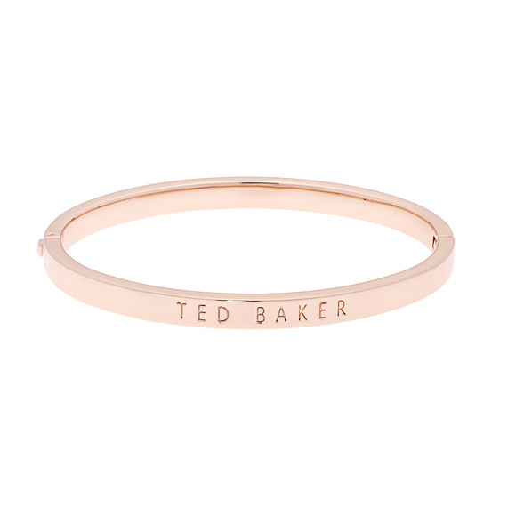 Ted Baker Womens Pink Rose Gold Clemina Hinge Metallic Bangle