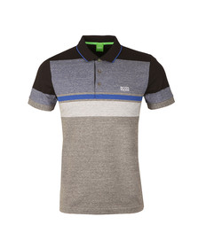 Boss Green Mens Grey Paule 1 Polo Shirt