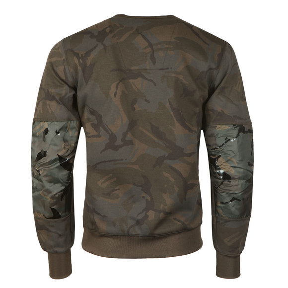 G-Star Mens Green Rackam Camo Sweat main image
