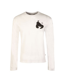Money Mens White Thing Long Sleeve Tee