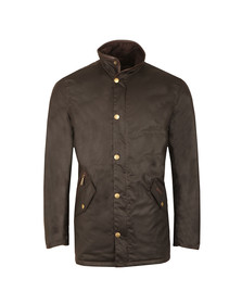 Barbour Lifestyle Mens Brown Prestbury Wax Jacket