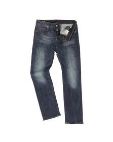 G-Star Mens Blue 3301 Straight Leg Jean