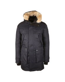 Nobis Mens Blue Yatesy Long Parka