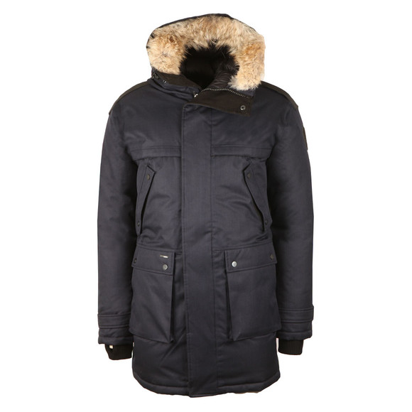 Nobis Mens Blue Yatesy Long Parka main image