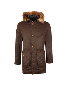 Barbour Lifestyle Mens Brown Wax Gisburne Jacket