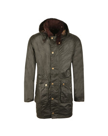 Barbour Lifestyle Mens Green Leighton Wax Jacket