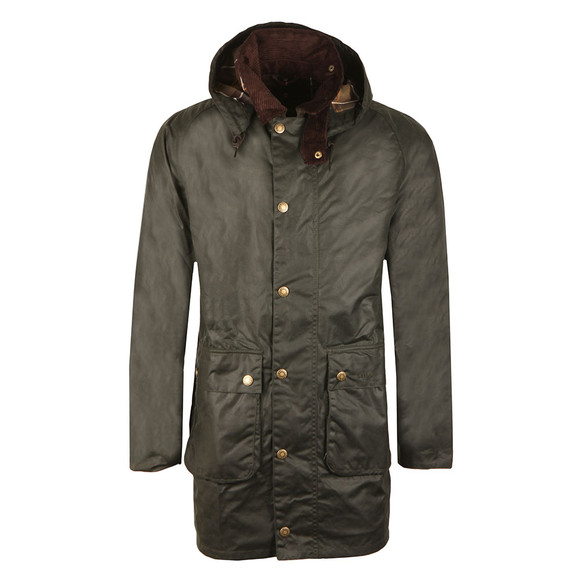 Barbour Lifestyle Mens Green Leighton Wax Jacket main image