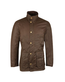 Barbour Lifestyle Mens Green Wax Hereford Jacket