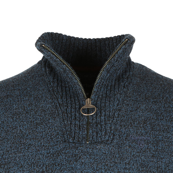 Barbour Lifestyle Mens Blue Lambswool 1/2 Zip Jumper main image