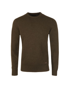 Barbour Countrywear Mens Green Patch Crew Jumper