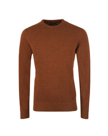 Barbour Countrywear Mens Brown Patch Crew Jumper