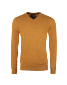 Barbour Lifestyle Mens Brown Lambswool V Neck Jumper