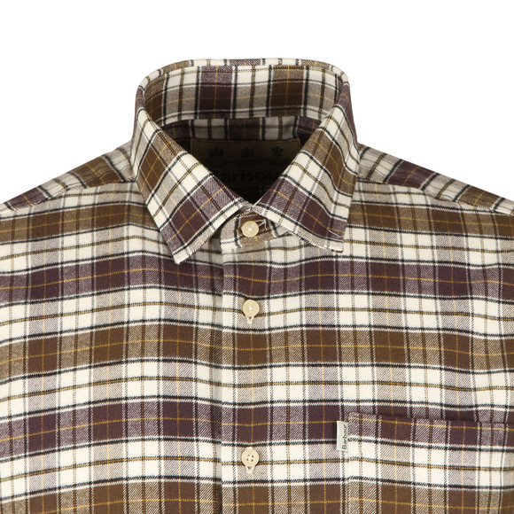 Barbour Lifestyle Mens Green L/S Roe Shirt main image