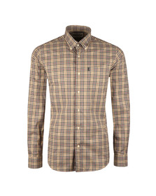 Barbour Lifestyle Mens Grey Malcolm Classic Tartan Shirt