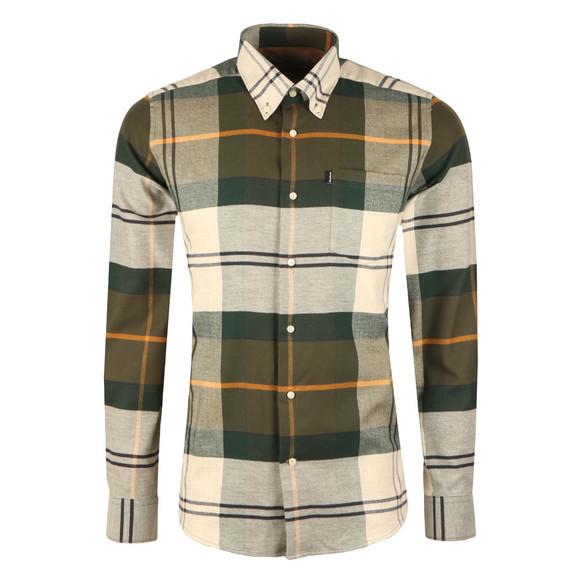 Barbour Lifestyle Mens Green L/s John Shirt main image