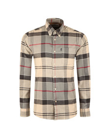 Barbour Lifestyle Mens Grey L/s John Shirt