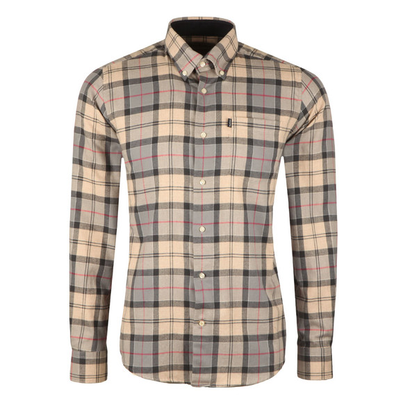 Barbour Countrywear Mens Grey L/S Murray Shirt main image