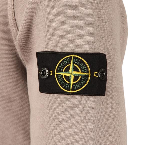 Stone Island Mens Grey Washed Crew Neck Sweatshirt main image
