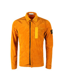 Stone Island Mens Orange Nylon Metal Overshirt