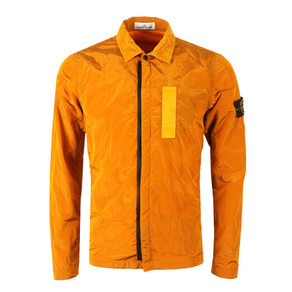 Stone Island Mens Orange Nylon Metal Overshirt main image