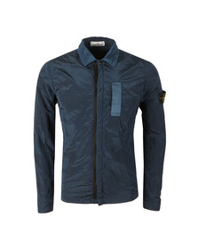Stone Island Mens Blue Nylon Metal Overshirt