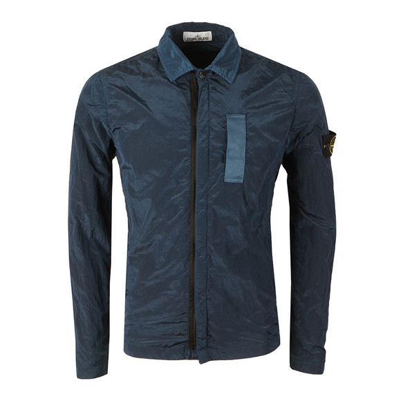 Stone Island Mens Blue Nylon Metal Overshirt main image
