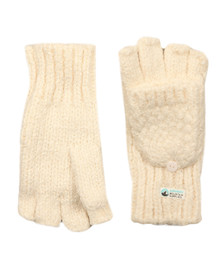 Superdry Womens Off-white Clarrie Stitch Gloves