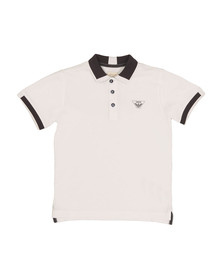 Armani Junior  Boys White Tipped Polo Shirt