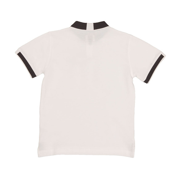 Armani Junior  Boys White Tipped Polo Shirt main image