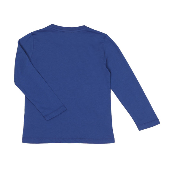 EA7 Emporio Armani Boys Blue Small Logo Long Sleeve T Shirt main image