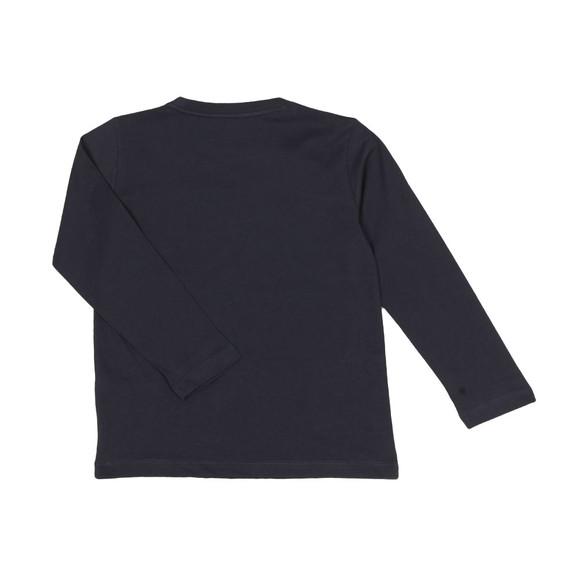 EA7 Emporio Armani Boys Blue Boys Long Sleeve Large Logo T Shirt main image
