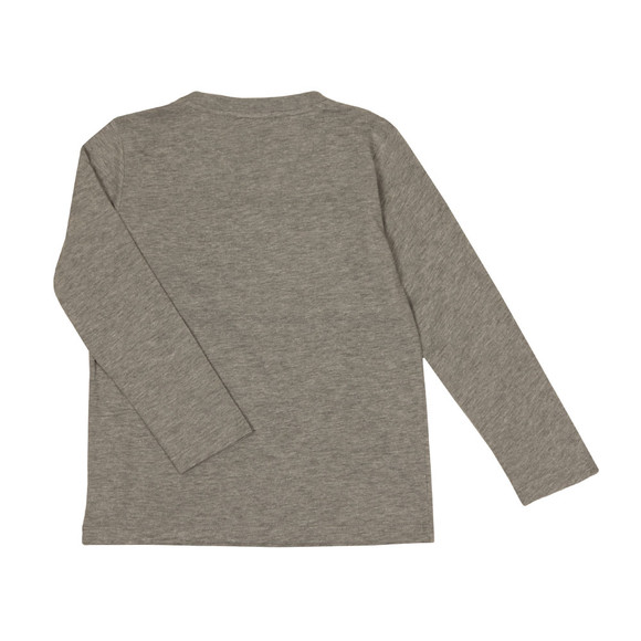 EA7 Emporio Armani Boys Grey Boys Long Sleeve Large Logo T Shirt main image