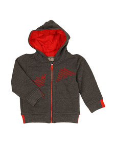 Armani Baby Boys Grey Logo Full Zip Hoody