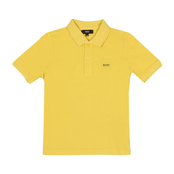 Boss Boys Yellow J25B75 Square Logo Polo main image