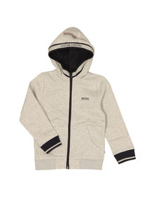 Boss Boys Grey Full Zip Hoody