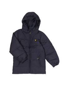 Lyle And Scott Junior Boys Blue Down Puffa Coat