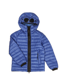 CP Company Undersixteen Boys Blue Goggle Hooded Puffer Jacket