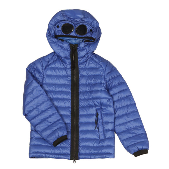 C.P. Company Undersixteen Boys Blue Goggle Hooded Puffer Jacket main image
