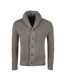 Superdry Mens Grey Jacob Shawl Cardigan