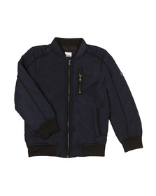 BOSS Boys Blue J26317 Bomber Jacket