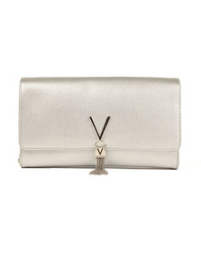 Valentino by Mario Womens Silver Divina Clutch