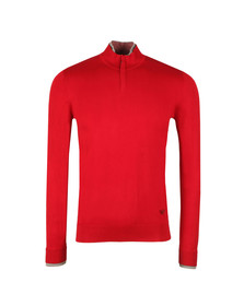 Armani Jeans Mens Red 6Y6MB1 Half Zip Jumper