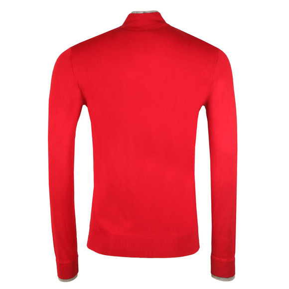 Armani Jeans Mens Red 6Y6MB1 Half Zip Jumper main image