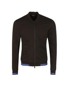 Armani Jeans Mens Black Full Zip Bomber Sweat