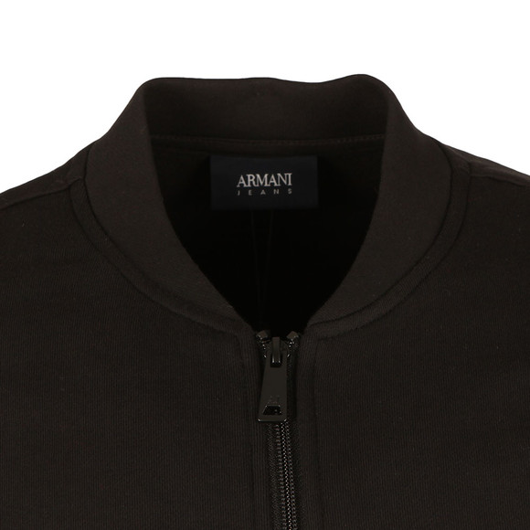 Armani Jeans Mens Black Full Zip Bomber Sweat main image