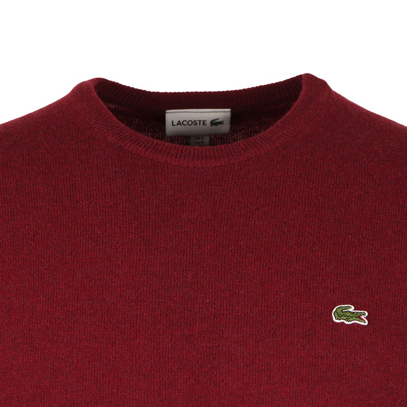 Lacoste Mens Red AH2995 Crew Neck Jumper main image
