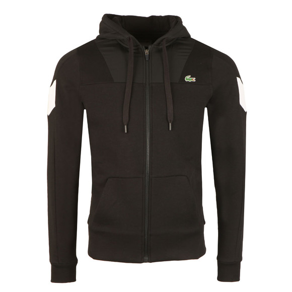 Lacoste Sport Mens Black SH8005 Full Zip Hooded Sweat main image