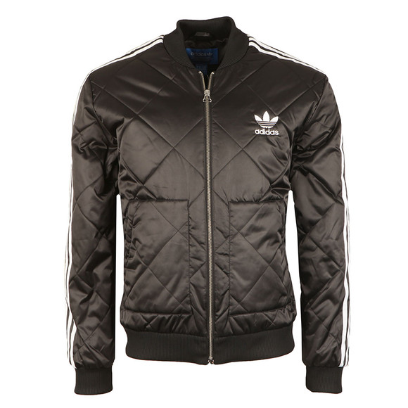 Adidas Originals Mens Black SST Quilted Jacket main image